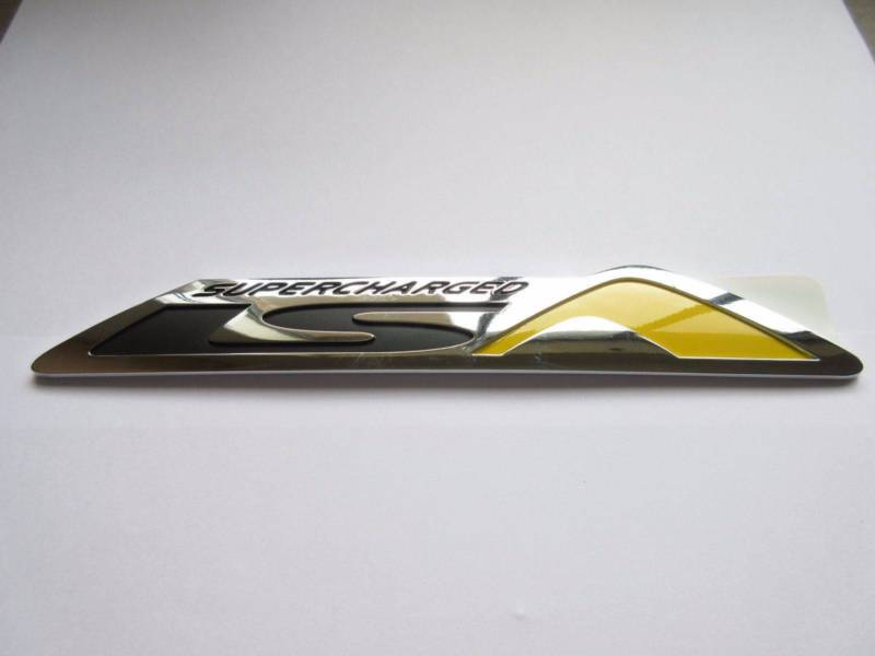 Chevy Ss Hsv Lsa Yellow Trunk Badge Jhp Vehicle Enhancements